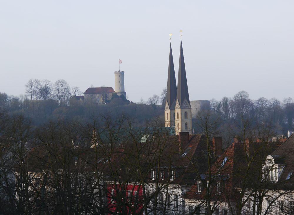 Stadtansicht Bielefeld mit Sparrenburg