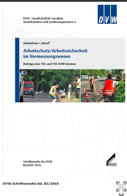 Titelseite DVW-Schriftenreihe Bd. 83-2016