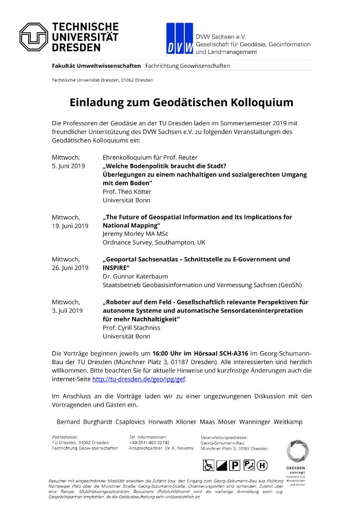 Geodätisches Kolloquium TU Dresden