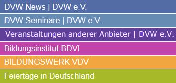 DVW e.V. Kalender - Legende