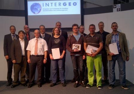 Preisverleihung auf der INTERGEO: GeoCoin-Rennen 2012