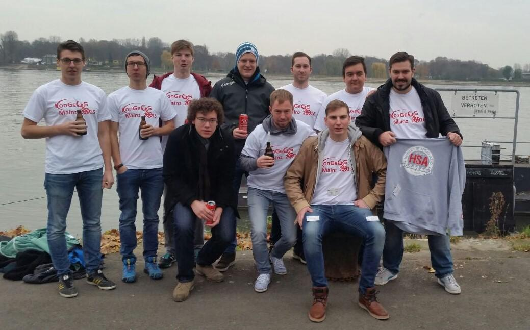 Teilnehmer der HS Anhalt-Dessau beim 9. KonGeoS in Mainz