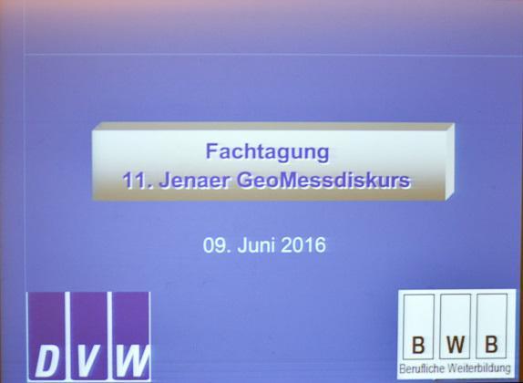 11. Jenaer GeoMessdiskurs 2016