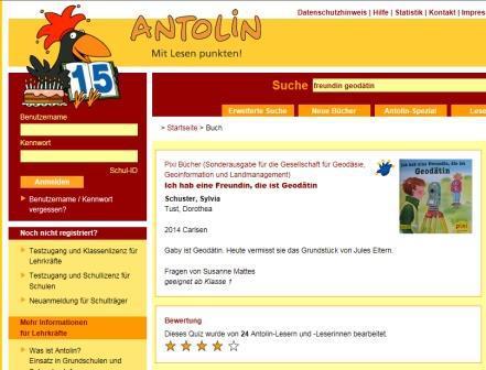 ANTOLIN-Webseite