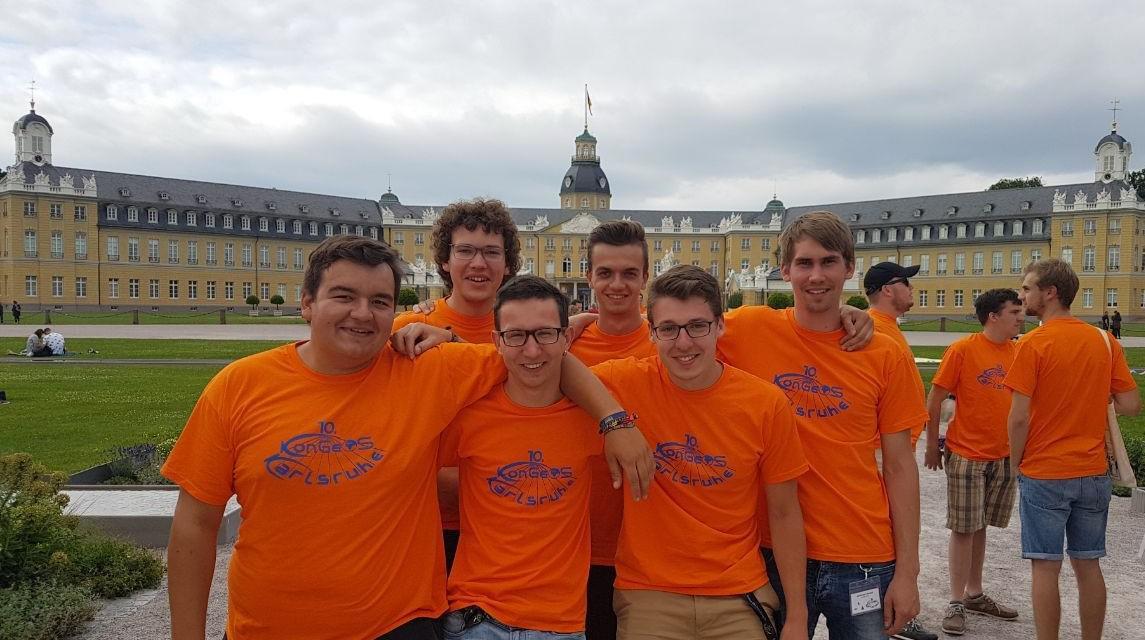 Studierende aus Sachsen-Anhalt beim KonGeoS-Treffen in Karlsruhe 2017