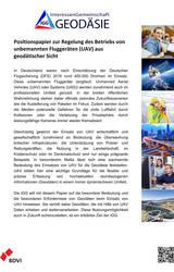 IGG gibt Positionspapier zum Betrieb von UAV heraus