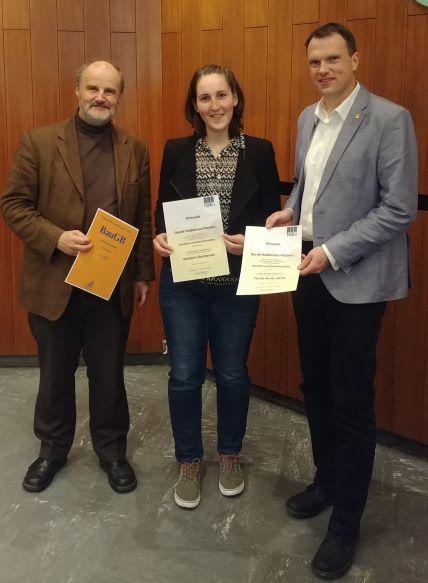 Ehrung studentischer Leistungen Uni Bonn (Foto: DVW NRW e.V.)