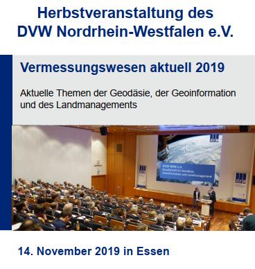 Vermessungswesen aktuell 2019 (Quelle: DVW NRW e.V.)