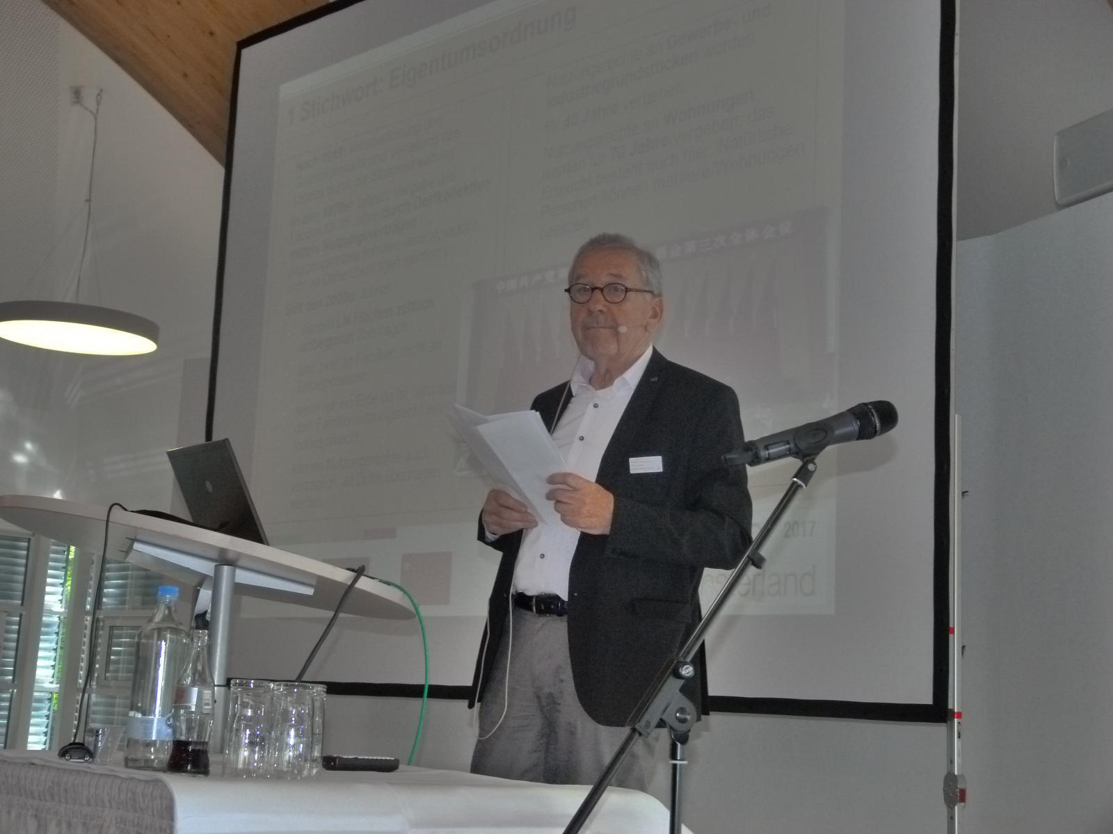 Referent Herr Prof. Dr. Joachim Thomas
