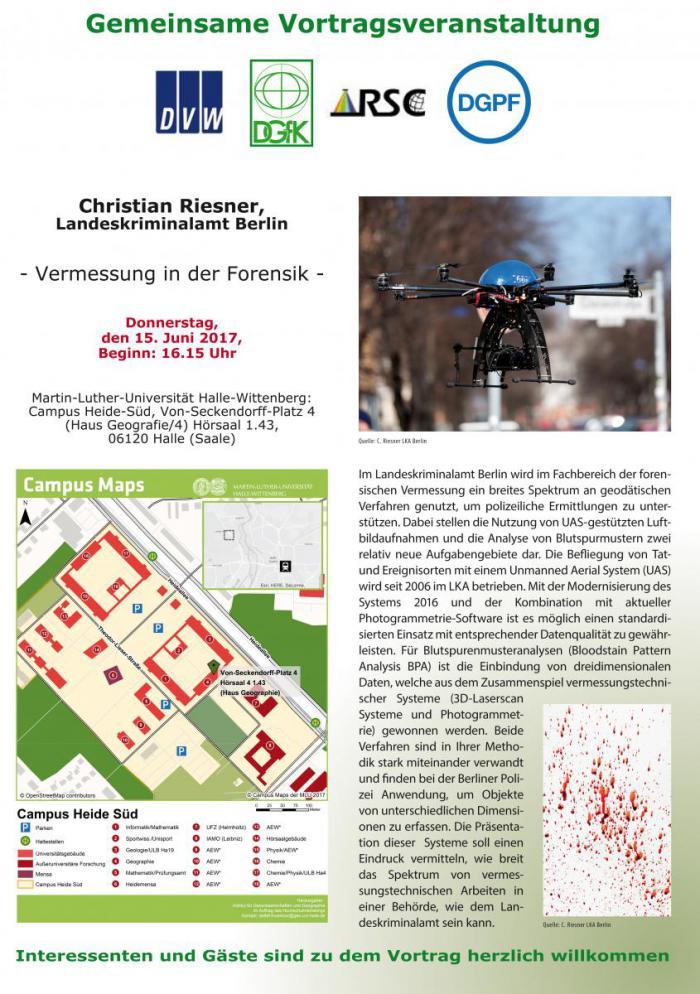 """Plakat der Veranstaltung """"Vermessung in der Forensik"""""""